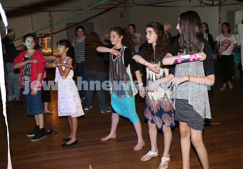 North Shore Synagogue's Youth Chanukah Party. On the dance floor.