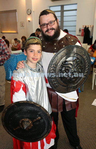 Nefesh Chanukah Party. Rabbi Chanoch Sufrin with his son Aron.