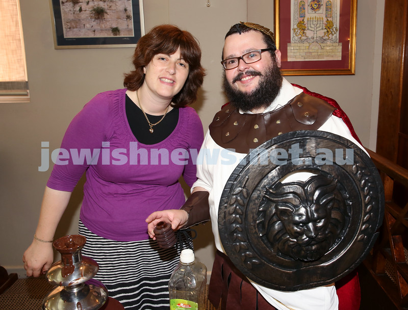 Nefesh Chanukah Party. Rabbi Chanoch Sufrin with his wife Sarah Chana.