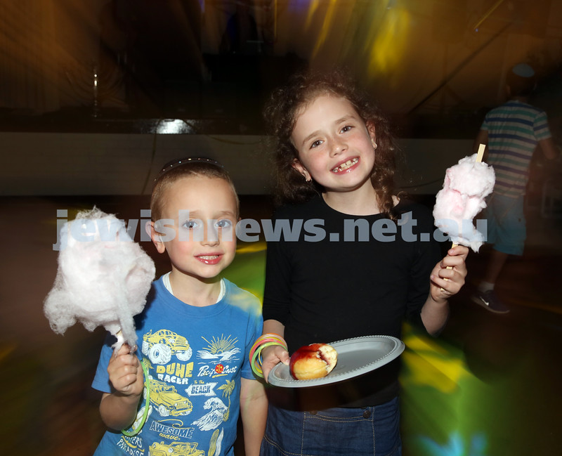 North Shore Synagogue's Youth Chanukah Party. Avishai & Liorah Kessel.