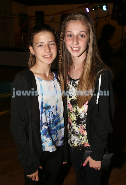 North Shore Synagogue's Youth Chanukah Party. Tayla Lakofski & Kayla Fingleson.