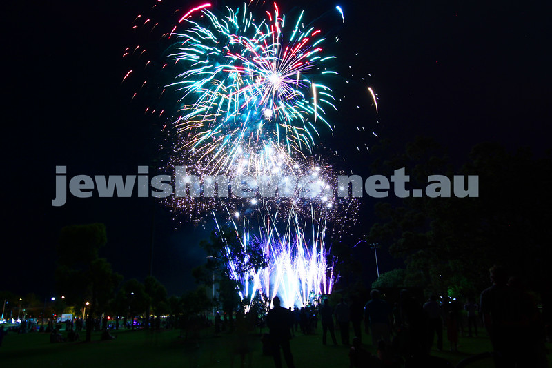1-12-13.  Chanukah in the Park  2013 at Melbourne's Caulfield Park. Fire works. Photo: Peter Haskin