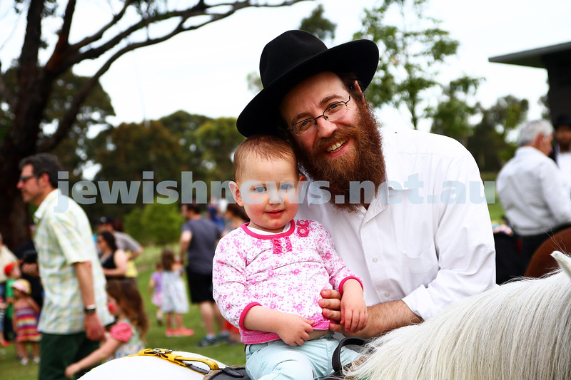1-12-13.  Chanukah in the Park  2013 at Melbourne's Caulfield Park. Pony ride. Photo: Peter Haskin