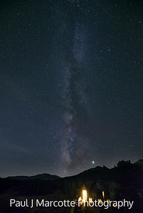 Milky way towering over Saint Catherines