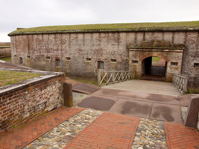 Fort Macon, built 1826-34; stolen by confederates April 14 1861.  Won back by the USA in April, 1862. Copyright 2011 Neil Stahl
