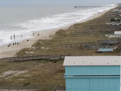 View of Kure Beach beach