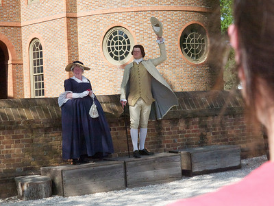 Mrs. Washington and the Mayor of Williamsburg Copyright 2011 Neil Stahl