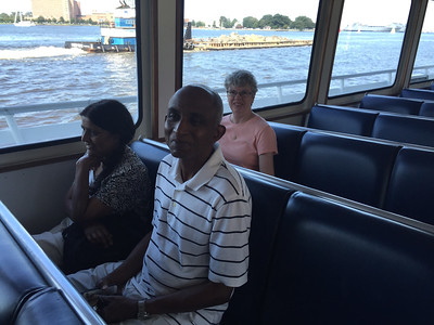 Chitra, K.L.D. and Vonda aboard the Victory Rover heading out