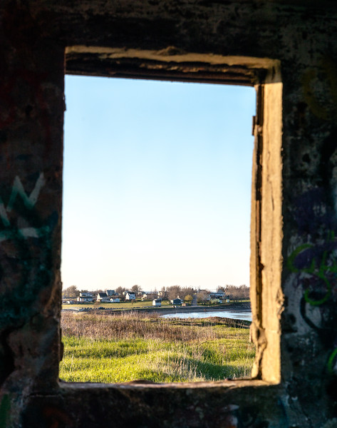 View from window inside Chapel Point Battery Observation Post