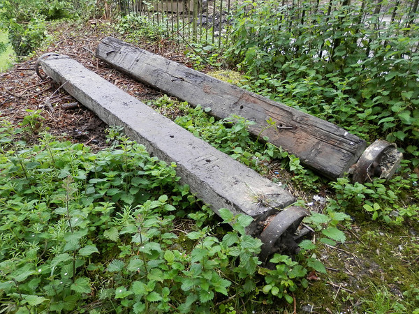 My Bruv saw these old sleepers with wheels attached..were they part of the original shop/shed that was put here back in the days of the working railway line.Big thanks to John Dobson for taking these last two pictures.