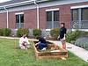 Building garden beds at Rural Retreat Elementary School.