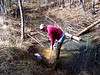 Working on the vernal pool at Beagle Ridge.