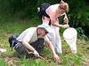 Brian Kreowski and Deb Vrsansky collecting bugs.
