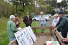 Eastern Shore VA NWR Manager Bob Leffel briefs MN Volunteers on Tree Tube Project