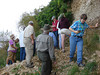 HRCVMN TRAINING - Members search for fossils during Dr. Jerre Johnson's geology field trip.
