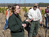 HRCVMN TRAINING:  Lisa Deaton and Billy Apperson of the VA Dept of Forestry describe the research at the New Kent Forestry Center for members of Historic Rivers Chapter.