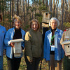 At the Bluebird trail in New Quarter Park. Left to right: Sara Lewis, Lois Ullman, Molly Nealor, Park Supervisor, Jan Lockwood, and Scout Chris Puffenbarger