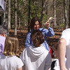 HRCVMN VOLUNTEER SERVICE: Adrienne Frank discusses antlers with children on Earth Day at Waller Mill Park.