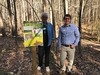 Showing off the interpretive signage that HRC members helped develop for Freedom Park.  VMN volunteers helped develop the content to be included on the signs.