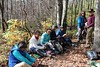 Lunch break after a 2.2 mile hike down the Rocky Mount Trail.