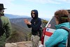 Lane Gibbons, Lead Fire Monitor,  talks to ORMNs before beginning the hike down Rocky Mount Trail.