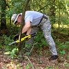 Chapter Prez John at work on Autumn Olive