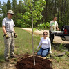 Liz, John and Daryl proud of their planting