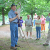 Tom Dierauf starts us out on our hike at Ivy Creek Natural Area.<br /> (Taken by Terri Keffert)  Apr 2009 annual meeting