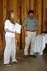 LoriAnne Barnett (then Chapter President) and Peter Warren, Chapter advisor, congratulate the graduating class.