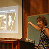 Nancy Weiss lectures during the training for the NABA Butterfly Count at Ivy Creek Natural Area. June 20, 2012. Photo by Rachel Wallace.