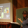 Terri Keffert lectures during the training for the NABA Butterfly Count at Ivy Creek Natural Area. June 20, 2012. Photo by Rachel Wallace.