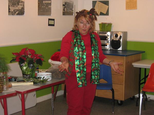 Ida Swenson giving a presentation at the Discovery Center in Dec. 2009<br /> (photo courtesy of Ida Swenson)