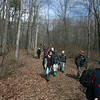 RMN Salamander Hike, March 3, 2012: Heading back to the cars. Photo by Eric Johnson.