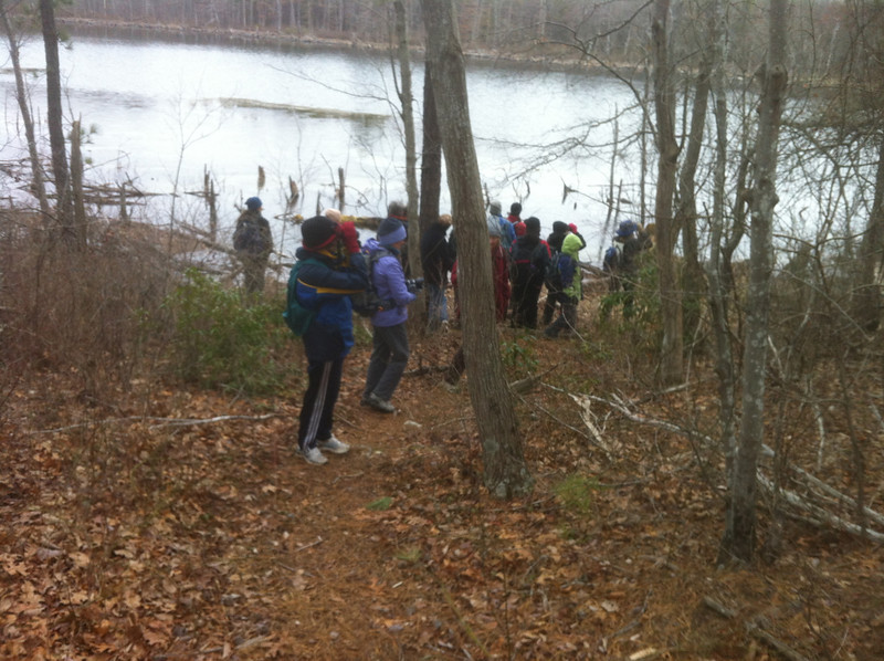 Heading to one of 5 ponds we visited in search of salamanders.