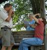 Peter Dutnell, Nancy Gercke, CJ Arban; photo taken by Rose Brown 6/13/09