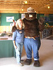 Nancy Essid escorting Smokey the Bear for the Virginia Department of Forestry at the 2009 Virginia State Fair.