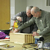 The Shenandoah VMN are very active,  volunteering many hours of service to help the Young Naturalists Program at  Blandy Experiemental Farm.  Here Tom Adkins and John Groetsch are demonstrating how to build bat houses.