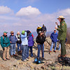 Geology trip to Shenandoah National Park, the  climb to Stoney man led by Ranger Sally Hurlbert.