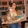 """Dr. Lutzow-Felling is Director of Education at UVA's Blandy Experimental Farm and a VMN; here she talks about """"Rufus"""" an example of a bobcat losing his life due to the effects of habitat fragmentation for 2011 trainees. Rufus is used for educational purposes thanks to a DGIF Salvage permit."""