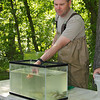 Paul Bugas, DGIF Fisheries Biologist, gives trainees a demonstration in electrofishing to monitor fish populations on the Shenandoah River.