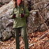Ranger Sally Hurlbert leads the Master Naturalists in training on a geology hike to Stoney Man in SNP.