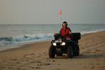 Marian Childress on Sea Turtle Patrol