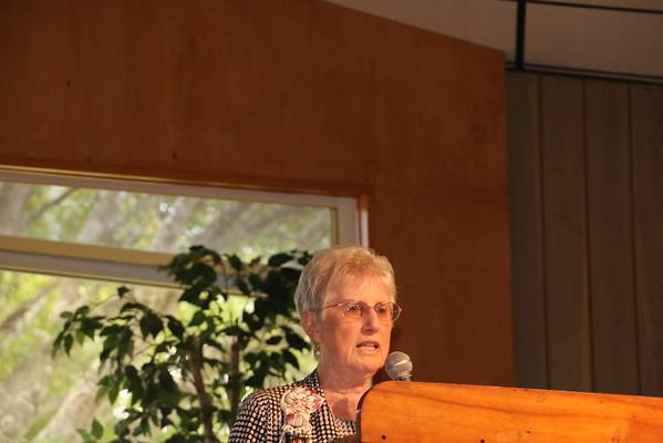 Irene Ferguson, Sunshine Chair, gives her report