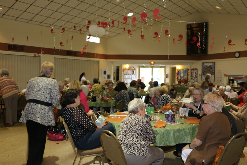 Members gather for catered luncheon