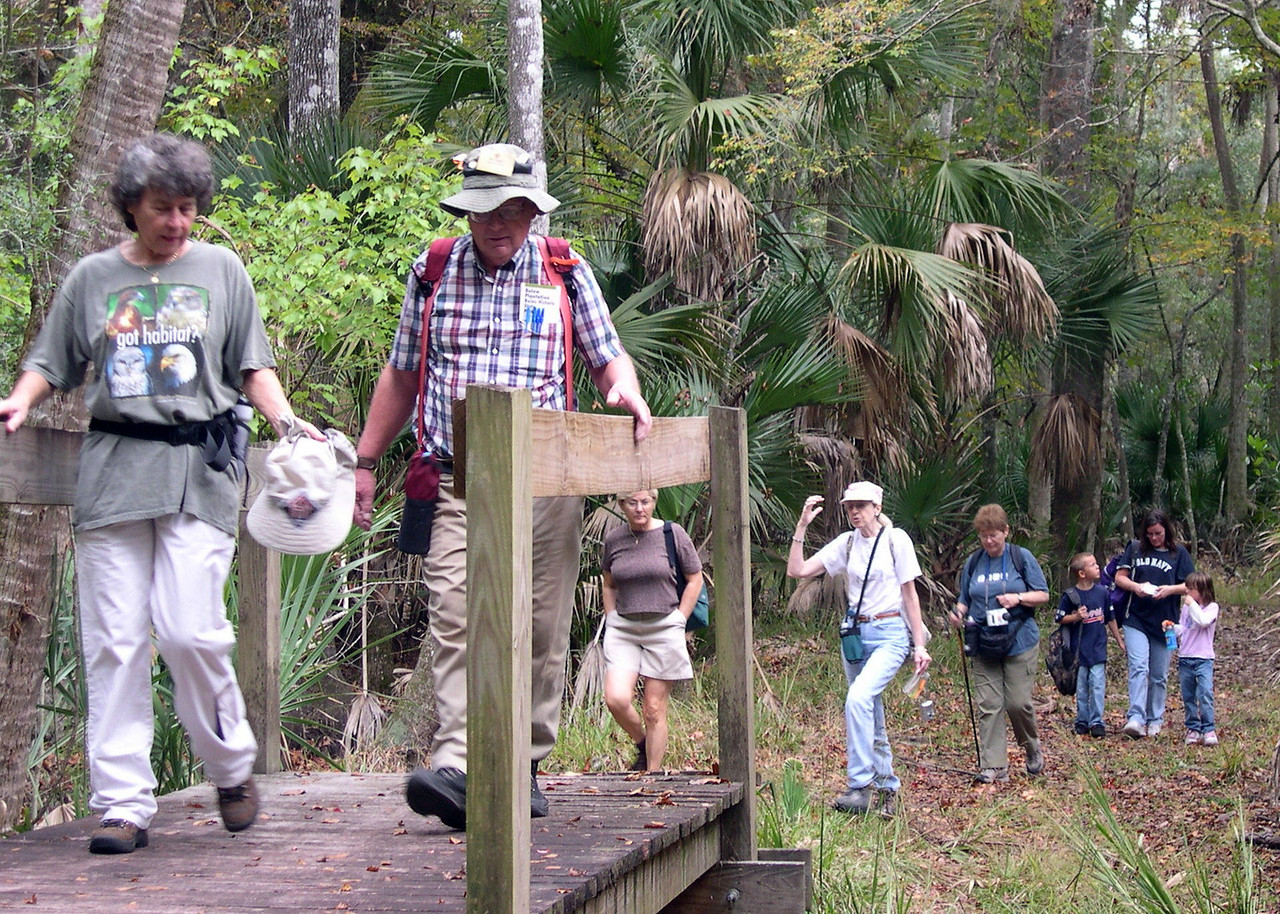 Hike at Bulow Creek State Park<br /> photo credit: Susan Young / Florida Trail Association