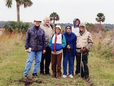 Chapter members at Lake Woodruff NWR