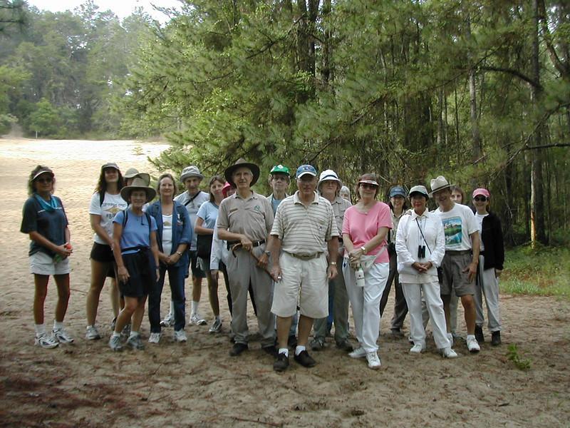 "Hikers at the ""Dunes,"" Cross Florida Greenway<br /> photo credit: Sandra Friend / Florida Trail Association"