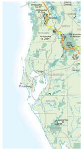 Suncoast region map