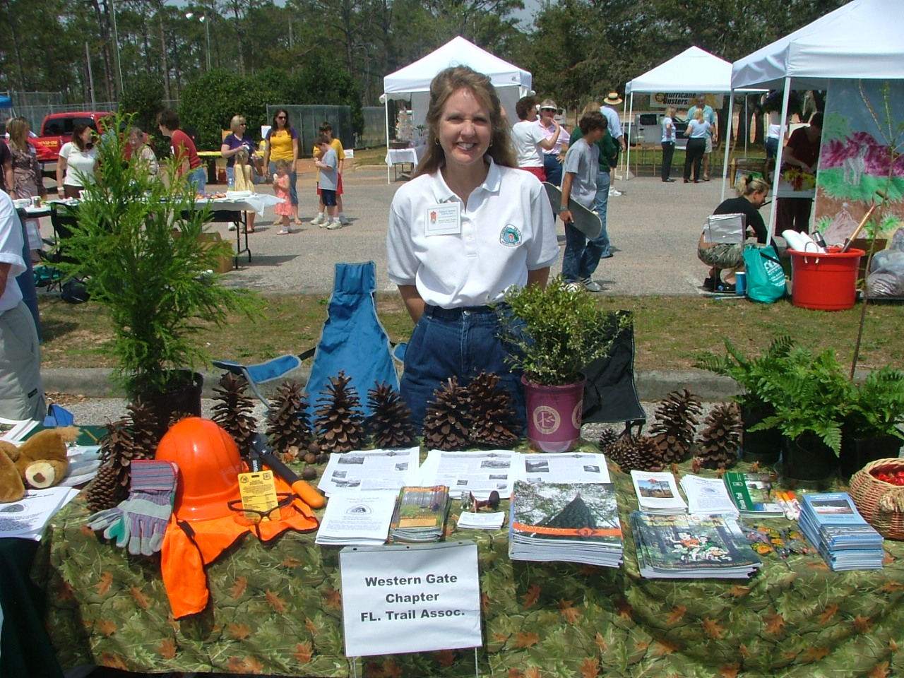 Cheryl hands out FTA information in Gulf Breeze