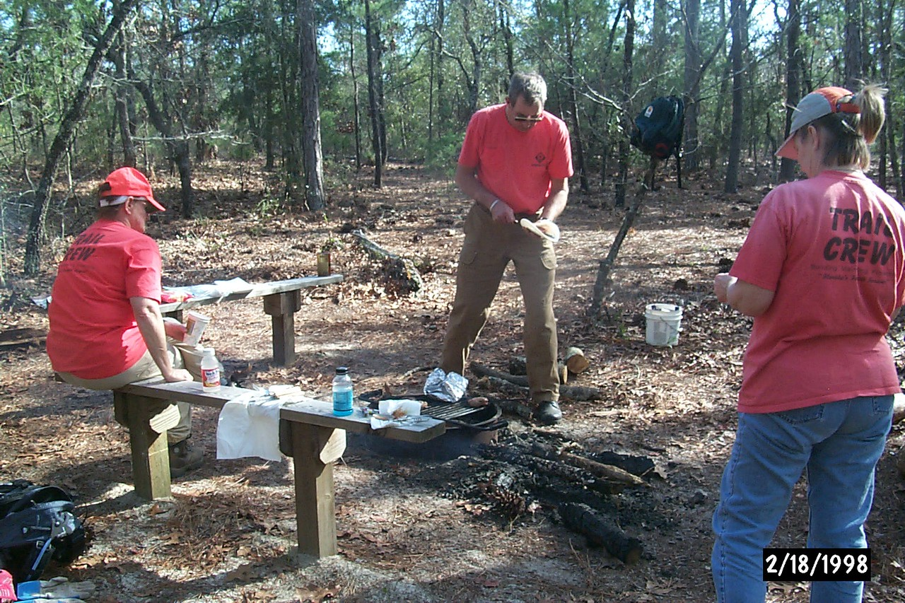 Working in Eglin on a Gourmet Trail Hike